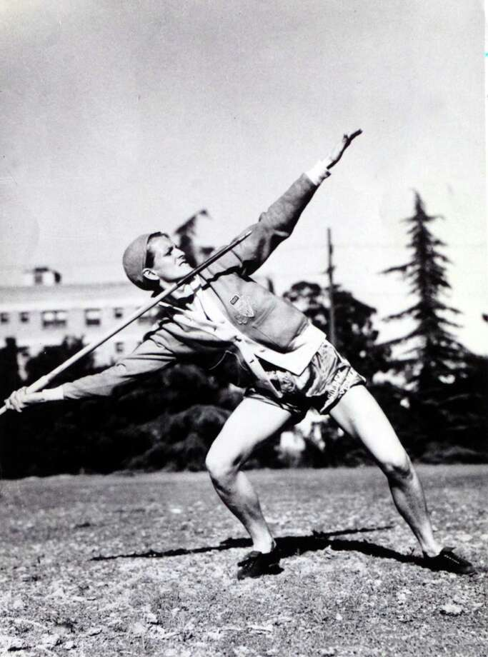 Babe Didrikson throws the javelin while preparing for the 1932 Olympics in Los Angeles. Enterprise file photo Photo: File