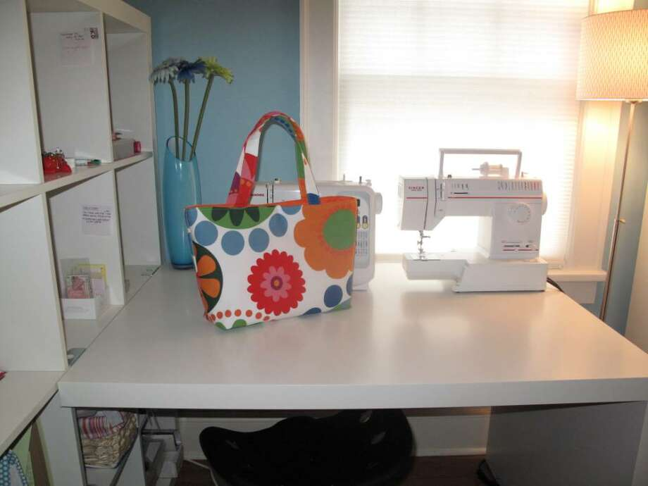 Darienite Jen St. Jean creates Itty Bitty Bags from a sewing studio in her Mansfield Avenue home, and sells them to customers all over the world. Photo: Maggie Gordon / Darien News
