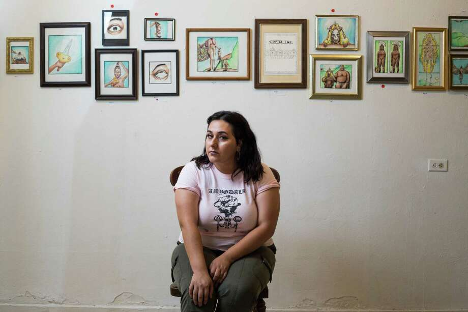 Kayla Matta, 20, opened the Pan Dulce Gallery on San Antonio's East side earlier this year to show local artists, especially those from the immediate neighborhood, and to host musical and poetry events. Photo: Brittany Greeson /San Antonio Express-News / © 2016 San Antonio Express-News