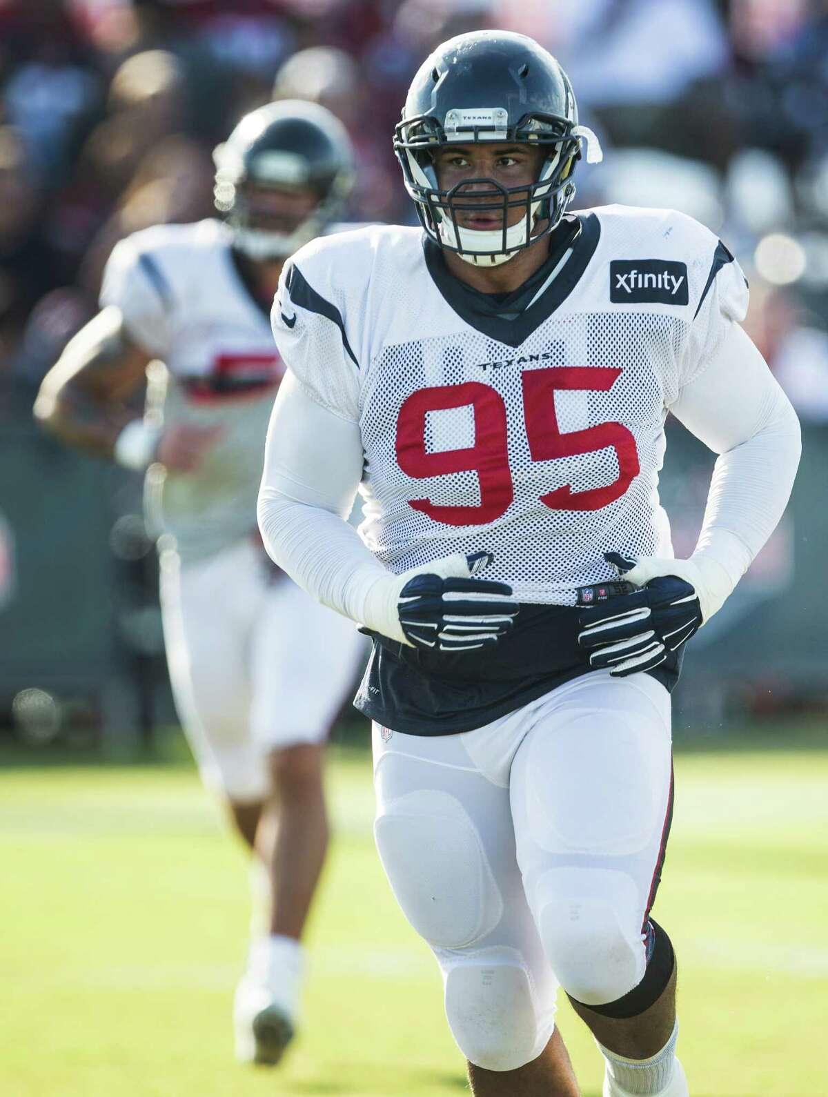 The former Rice standout had arguably the most impactful defensive performance, forcing 49ers running back Carlos Hyde to fumble with the turnover leading to a John Simon recovery and touchdown. Covington's combination of speed and power makes him an extremely difficult blocking assignment.
