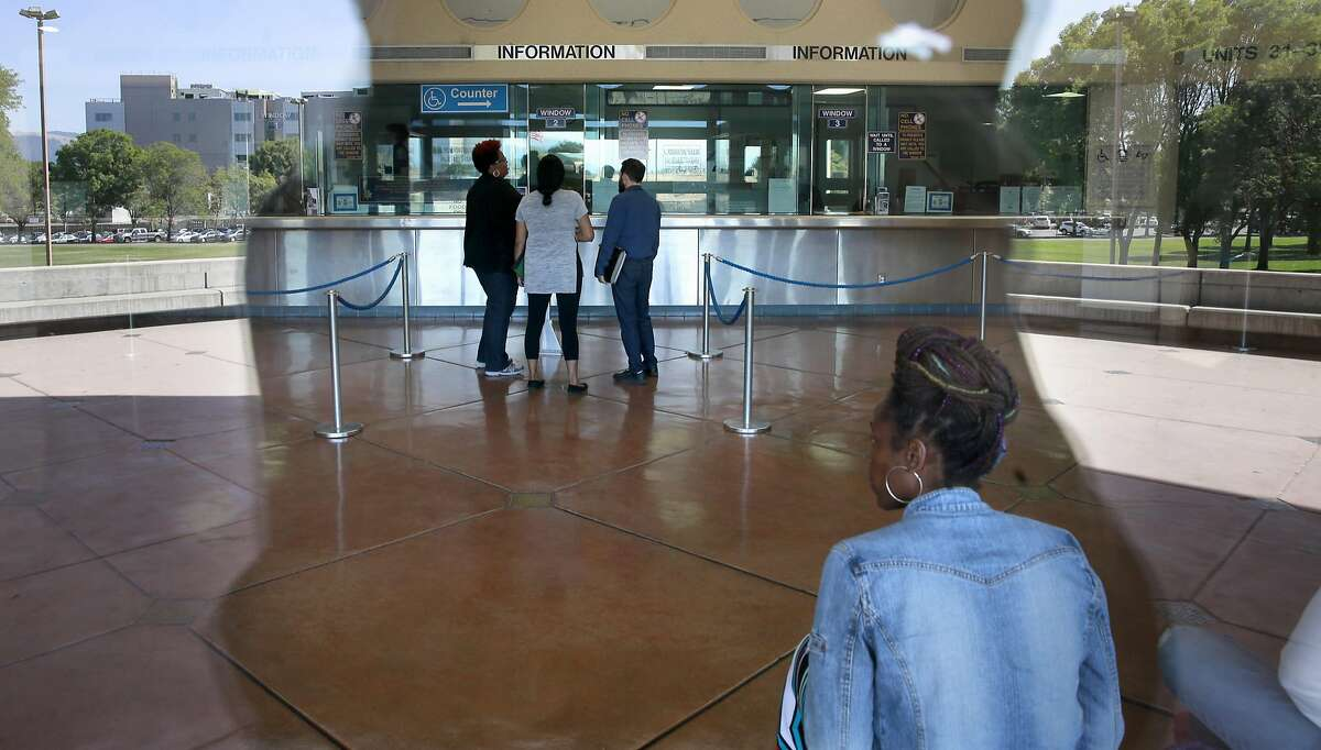 The public lobby area at the Santa Rita Jail in Dublin, California, on Thurs. Aug. 4, 2016. Alameda County is considering severing ties with their private health services contractor Corizon Health Inc.