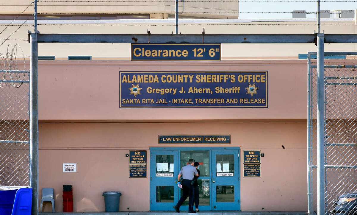 The intake, transfer and release area at the Santa Rita Jail in Dublin, California, on Thurs. Aug. 4, 2016. Alameda County is considering severing ties with their private health services contractor Corizon Health Inc.