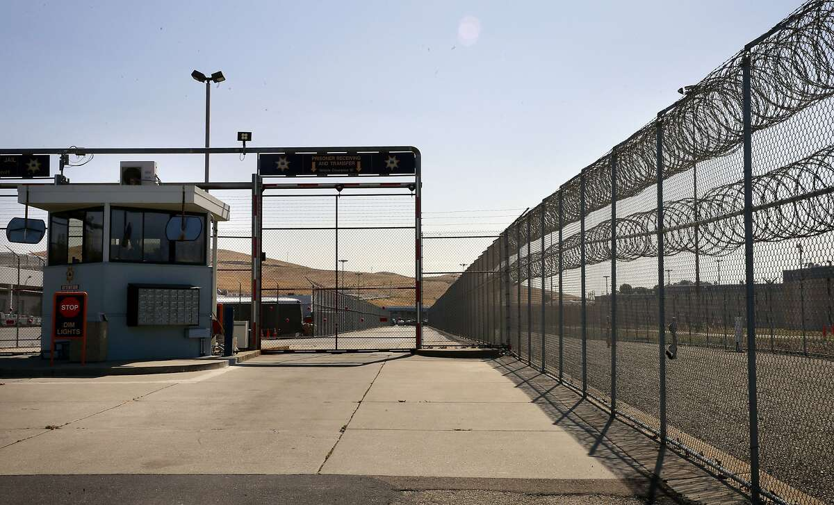 The security gate into the intake and release area at the Santa Rita Jail in Dublin, California, on Thurs. Aug. 4, 2016.
