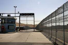 The security gate into the intake and release area at the Santa Rita Jail in Dublin, California, on Thurs. Aug. 4, 2016. Alameda County is considering severing ties with their private health services contractor Corizon Health Inc.