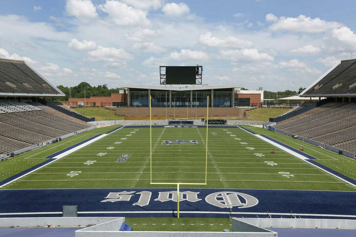 Rice University held their Media Day in their new facility Thursday, Aug. 4, 2016, in Houston. Head Football Coach Davis Bailiff addressed the media in the new auditorium.