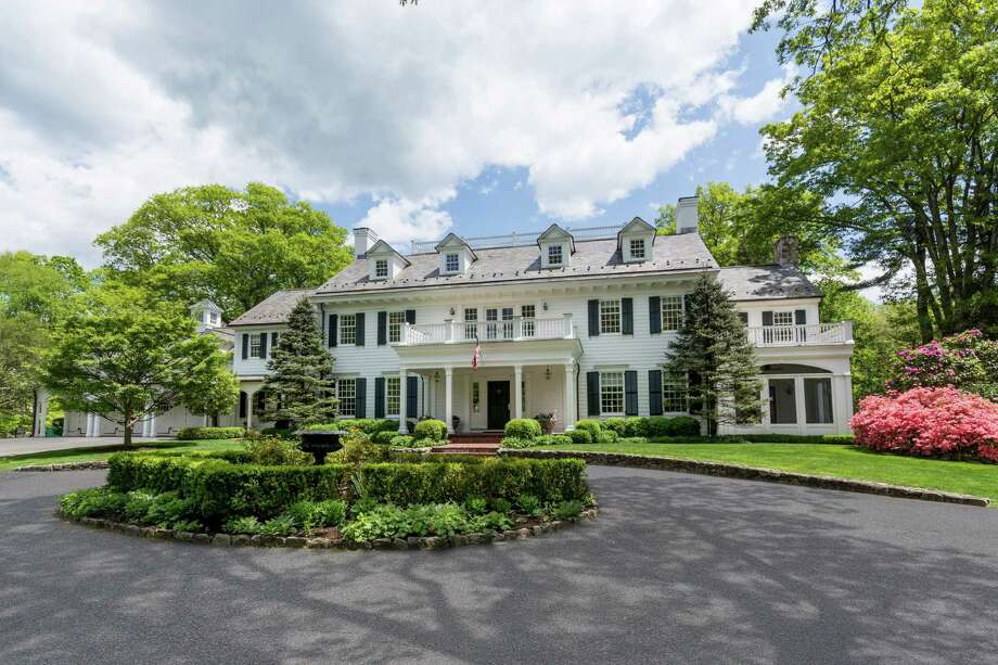 This New Canaan house is currently on the market for $5,795,000. The home sits on five acres on Weed Street and was built in 2000. Photo: Contributed Photo / Hearst Connecticut Media / New Canaan News
