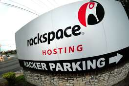 San Antonio-based Rackspace's headquarters sign is shown in this May 14, 2010 file photo. Rackspace has signed an agreement to acquire managed public cloud services provider Datapipe, Rackspace announced Monday.