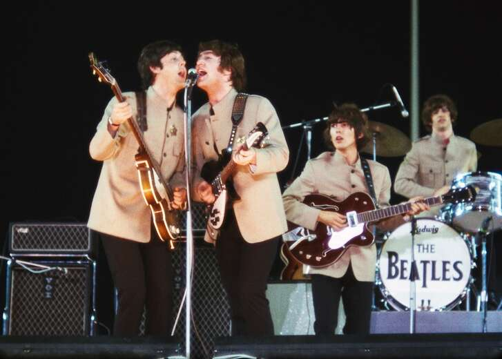 """The new doc """"The Beatles: Eight Days a Week - The Touring Years"""" is directed by Ron Howard, had the cooperation of the surviving Beatles and Beatles widows and features 4K-restored footage of their 1965 Shea Stadium concert. If you happen to still have your ticket from that show, send in a photo for free admission to the movie. Note: The Shea footage is only in the theatrical, not the streaming, release. Movie opens September 15. Photo credit Subafilms Ltd."""