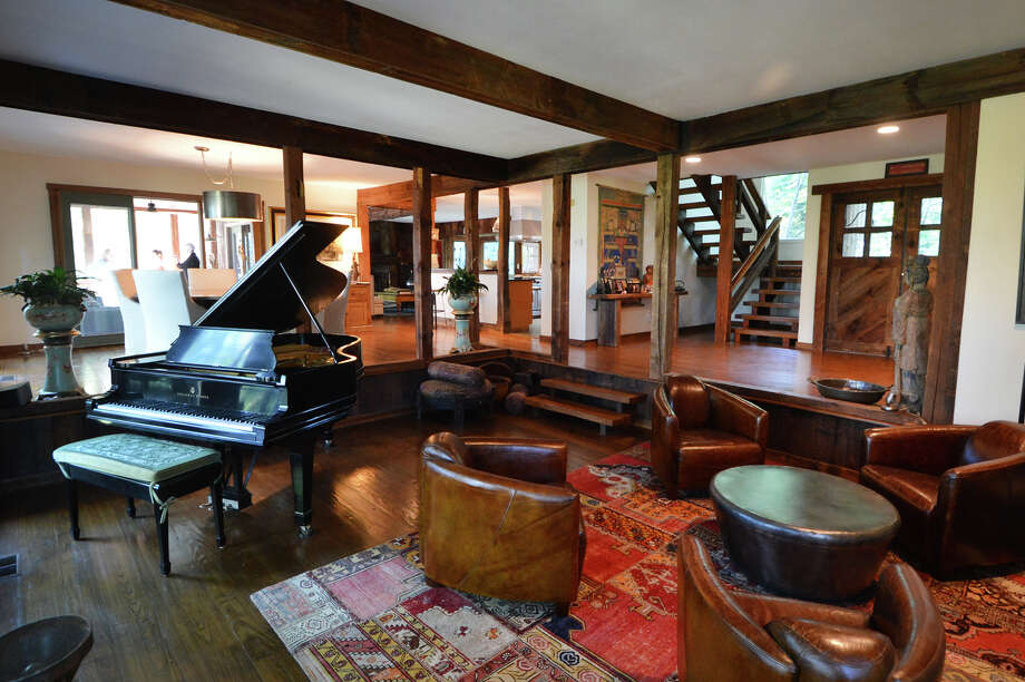 The Interior Of The Former Home Of Actor Robert Redford On Davis Hill Road  In Weston