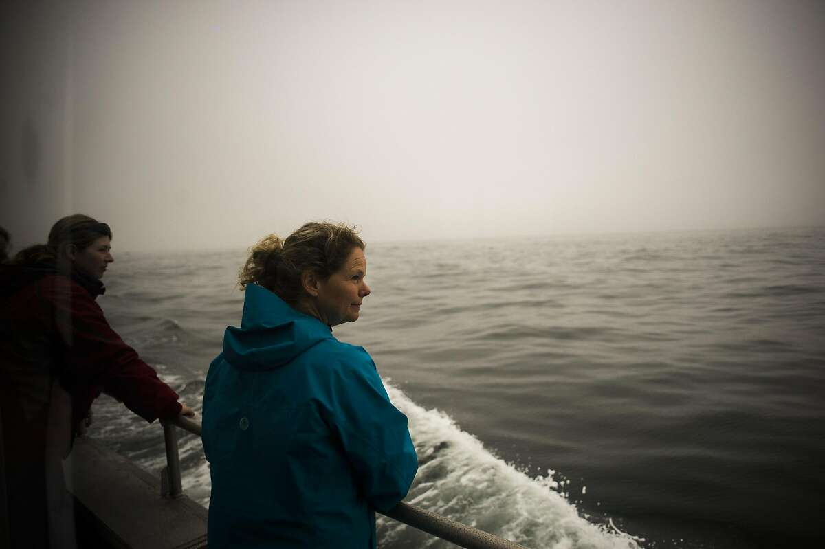California State Parks Archeologist Denis Jaffke aboard the Fulmar as it heads to Sea. A National Oceanic and Atmospheric Association (NOAA) and California State Parks team has an expedition aboard the