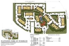 """Renderings of the apartment complex identify it as """"Plantation Park,"""" but Covey said the name will likely change."""
