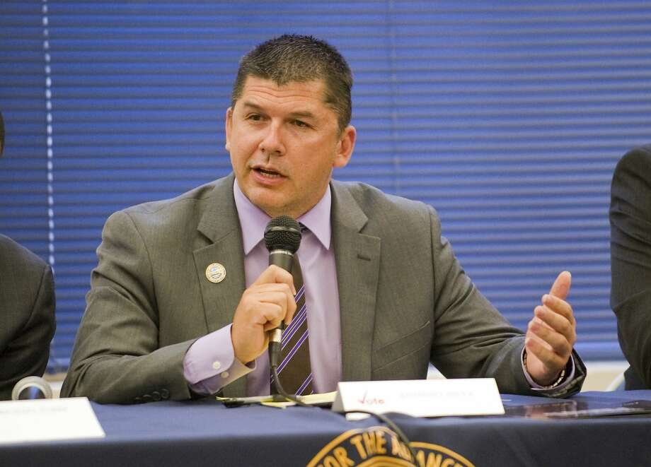 In this April 21, 2016 photo, Stockton Mayor Anthony Silva participates in a mayoral candidate forum hosted by the National Association for the Advancement of Colored People in Stockton, Calif. Authorities say Silva was arrested Thursday, Aug. 4, 2016, on charges he provided alcohol to minors at a youth camp he runs. (Clifford Oto/The Record via AP) Photo: Clifford Oto, Associated Press