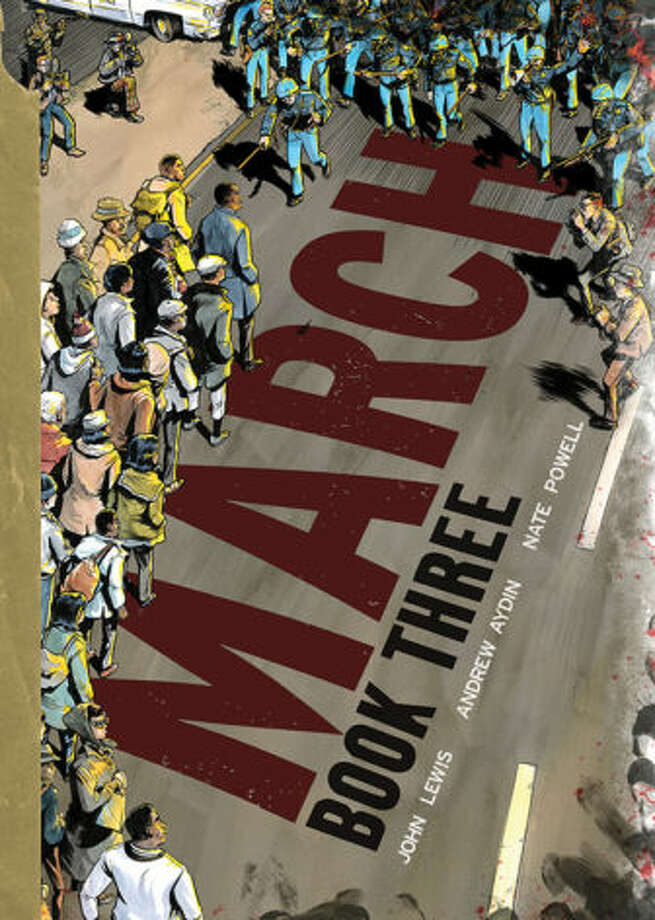 """""""March"""" is a three-part graphic novel series about Lewis' work in the civil rights movement. The final part of the series was recently released. Photo: /"""