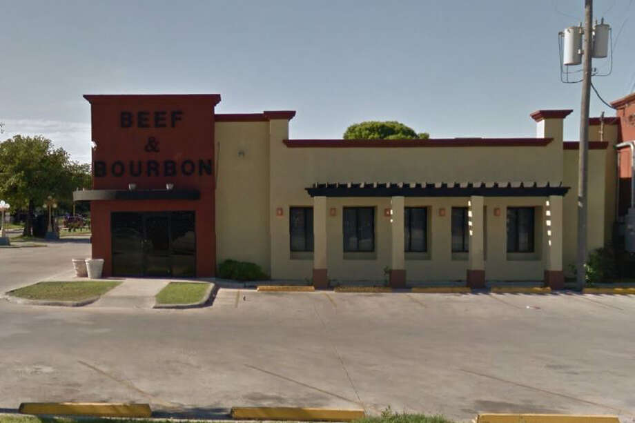Beef & Bourbon Steak House: 4946 Rigsby Ave., San Antonio, TX 78222Date: 09/05/2017 Score: 66Highlights: Food not held at correct temperature (enchilada meat gravy, raw whole muscle meat, cream gravy, rolled enchiladas); food not protected from contamination (raw meats, lettuce, breaded shrimp); meat grinder, meat saw must be properly cleaned and sanitized after use; employee seen handling buns with bare hands; poisonous/toxic materials seen stored near food prep areas; use only pesticides approved for use in commercial food establishment; proper cooling methods must be used for foods; bulk foods not labeled properly; food found stored in non-food grade bags (tortilla chips); establishment must clean grease, debris, food, spilled spices from non-food contact surfaces. Photo: Google Street View / Maps