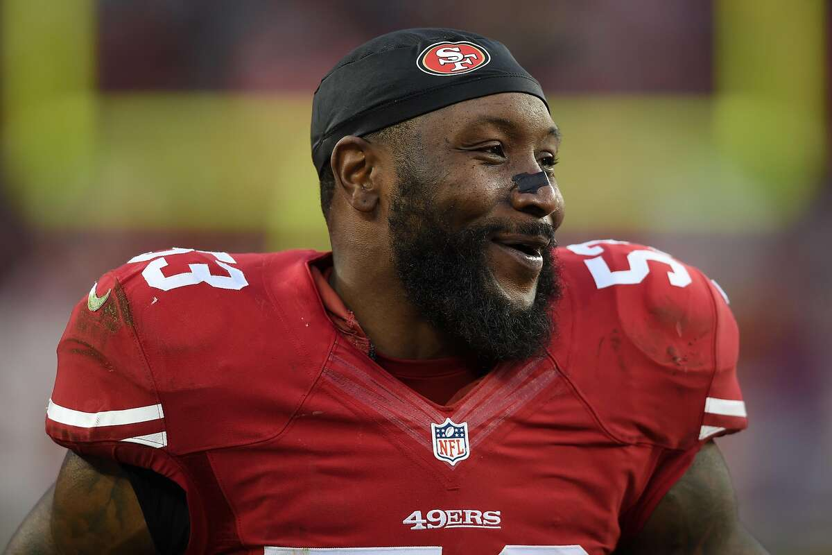 SANTA CLARA, CA - DECEMBER 20: NaVorro Bowman #53 of the San Francisco 49ers looks on during their NFL game against the Cincinnati Bengals at Levi's Stadium on December 20, 2015 in Santa Clara, California. (Photo by Thearon W. Henderson/Getty Images)