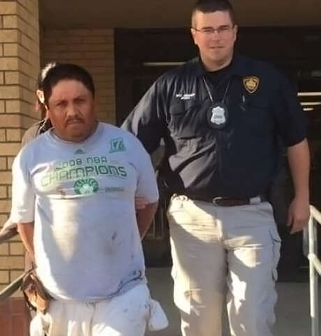 Ignacio Sanchez Alvarez, left, the 45-year-old man found guilty of throwing acid on Rosie the pit bull, has been sentenced to four years in prison and must serve at least two years. The dog was nearly blinded but has recovered and is now living with a new family. Photo: San Antonio Express-News File Photo