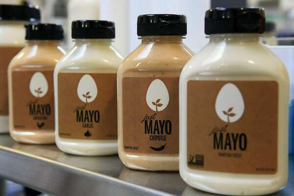 Hampton Creek's Just Mayo is egg free and comes in a variety of flavors, in San Francisco, CA, Tuesday, August 12, 2014.