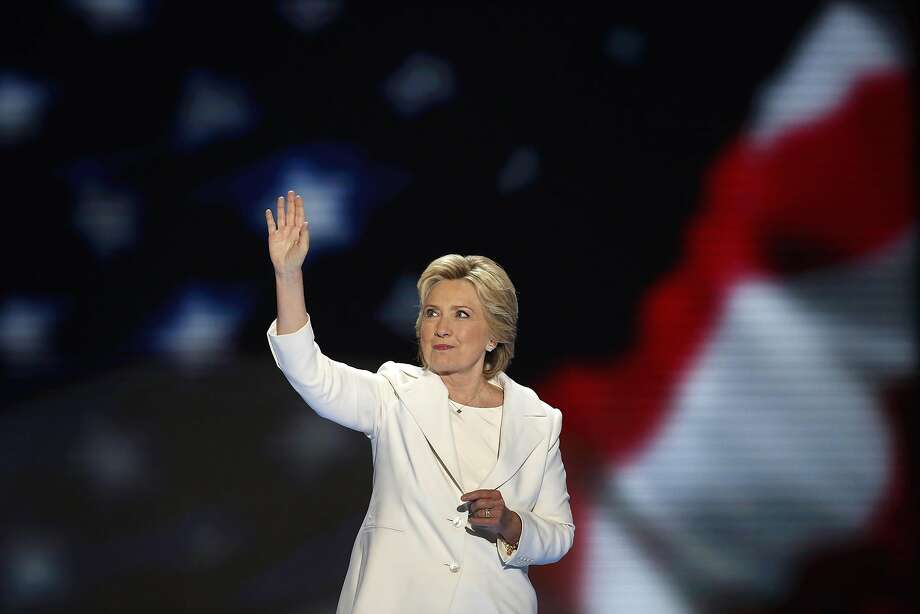 Hillary Clinton becomes the first woman to win the nomination for president from a major party in the United States on the final night of the Democratic National Convention in Philadelphia in July. Photo: Carolyn Cole, TNS