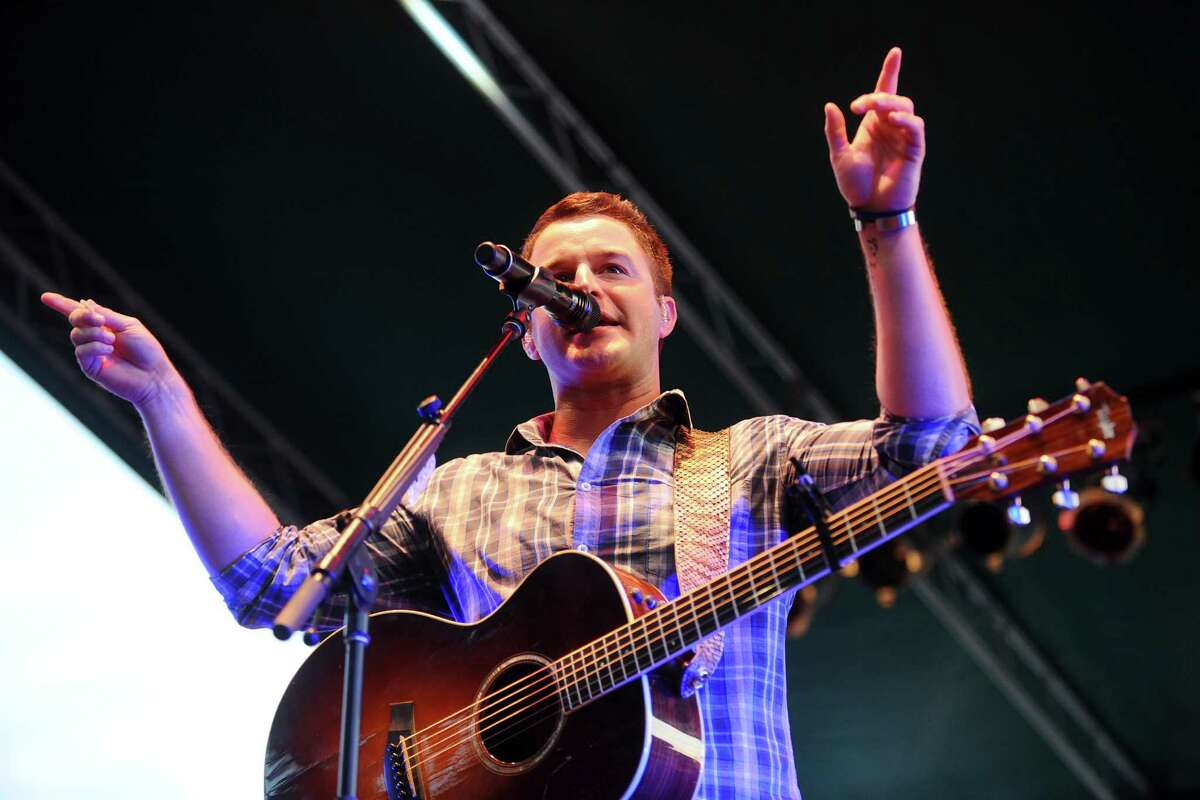 Country singer Easton Corbin sings at Stamford's penultimate Alive@Five concert in Columbus Park on Thursday, August 4, 2016.