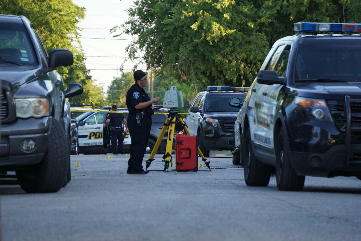 One person was killed in a shootout in the 600 block of South Sabinas Street Thursday Aug. 4, 2016.
