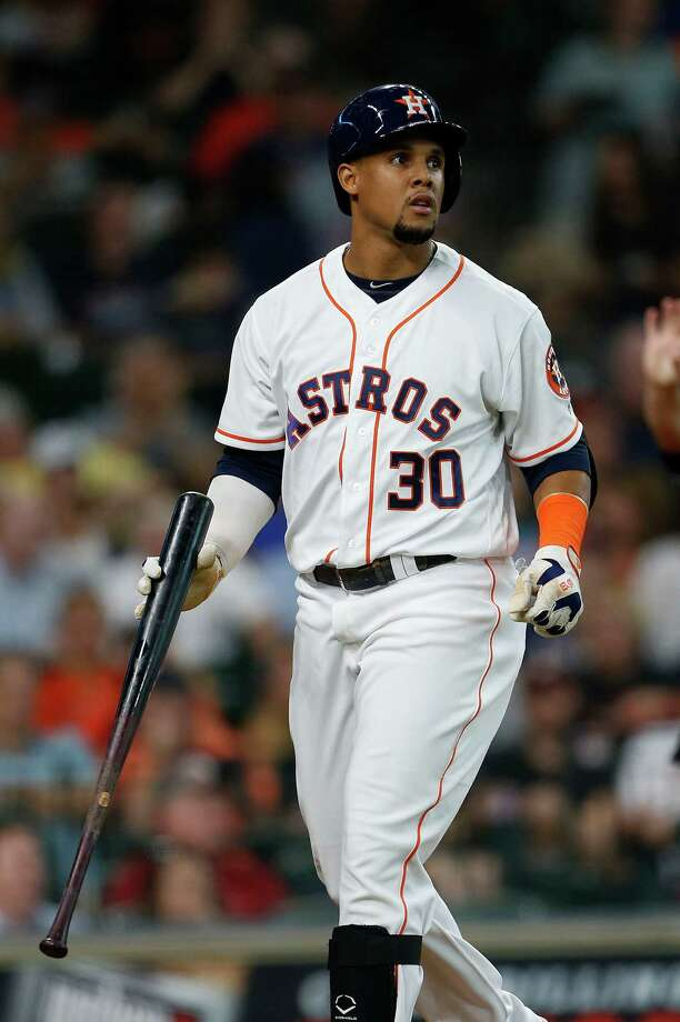 Carlos Gomez was officially cut loose by the Astros on Friday after being designated for assignment last week.Click through the gallery to revisit other vets who went bust in Houston. Photo: Karen Warren, Houston Chronicle / © 2016 Houston Chronicle
