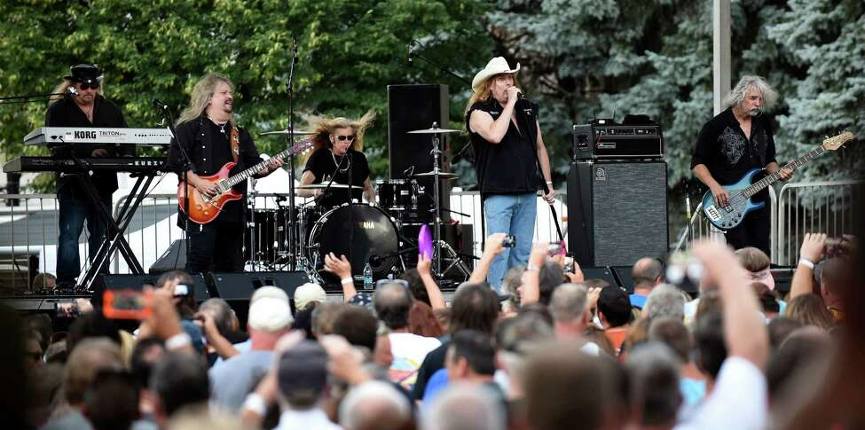 Molly Hatchet performs during Alive at Five on Thursday, Aug. 4, 2016, in Albany, N.Y. (Cindy Schultz / Times Union)