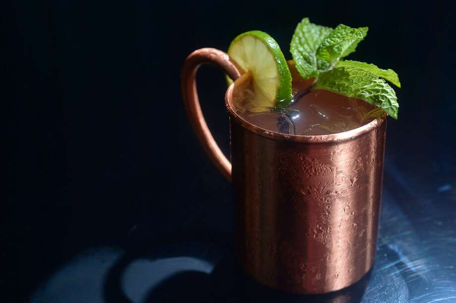 The FDA issued an advisory against using copper mugs — generally used with Moscow mules — saying the copper may leach into the food. Photo: Kim Brent/The Enterprise