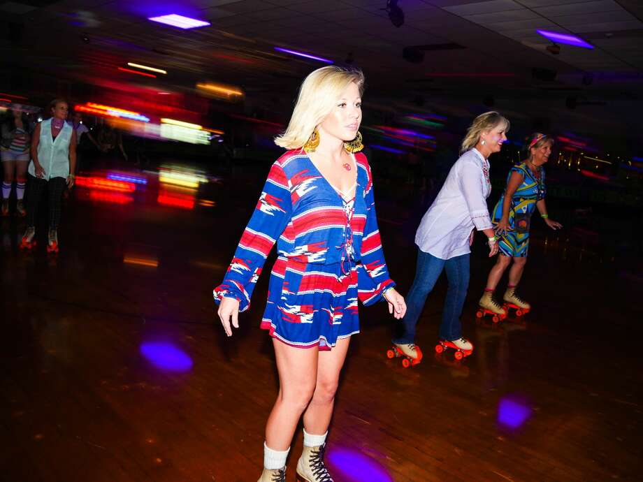 San Antonio's retro Rollercade threw a roller skate disco party on Thursday, Aug. 4, 2016. Photo: By Ryan Ibarra / For MySA.com