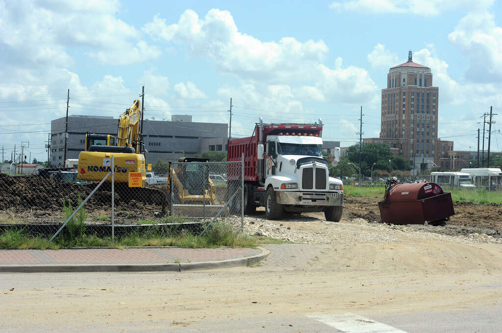 construction for the ebenezer missionary baptist church on college street in downtown beaumont on thursday