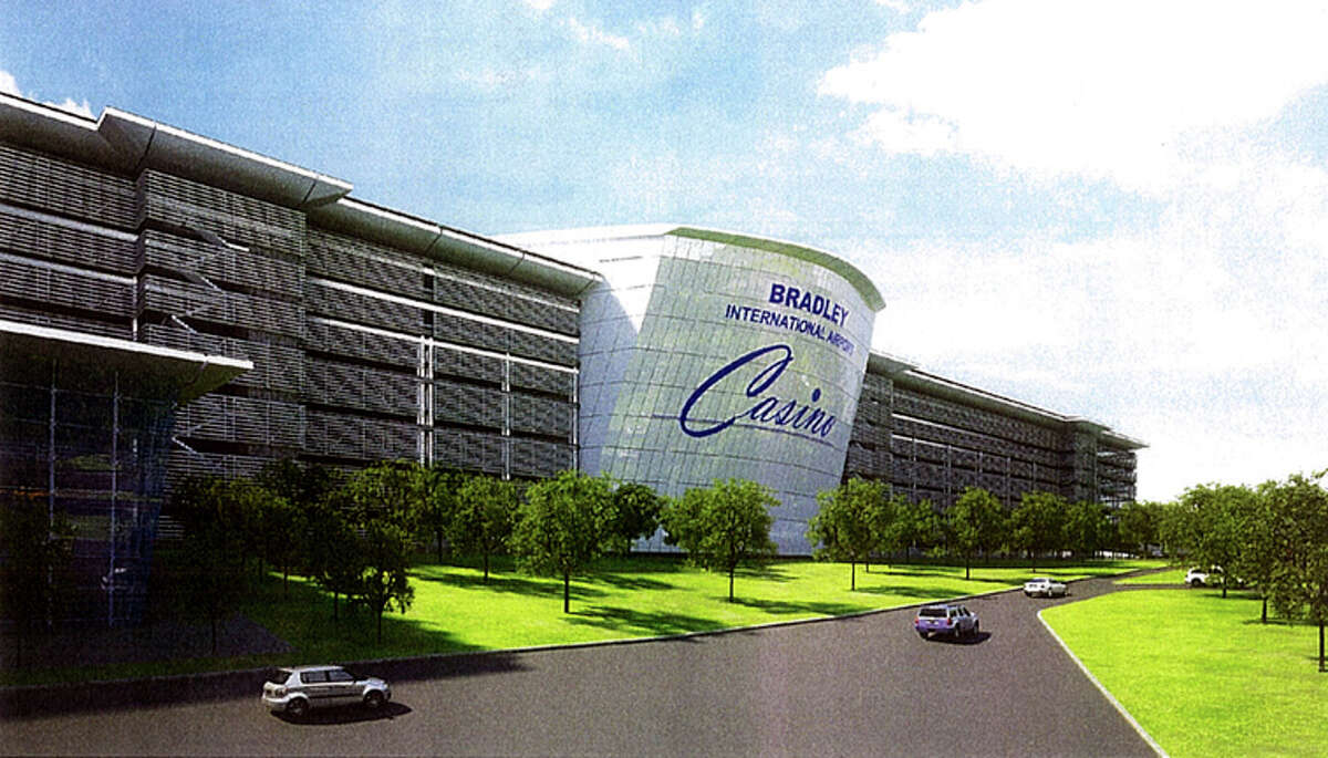 An artist's rendering of a 250,000-square-foot casino facility proposed for Bradley International Airport in Windsor Locks.