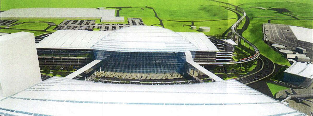 An artist?'s rendering of a 250,000-square-foot casino facility proposed for Bradley International Airport in Windsor Locks.