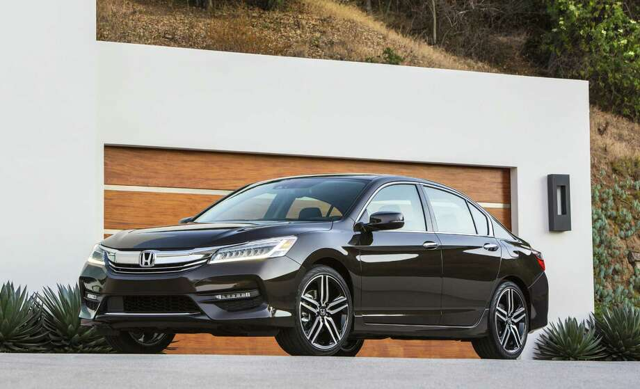 When equipped with optional front crash prevention system, the 2016 Honda Accord midsize sedan earned the Insurance Institute for Highway Safety's Top Safety Pick Plus award. Photo: Honda / Copyright 2015
