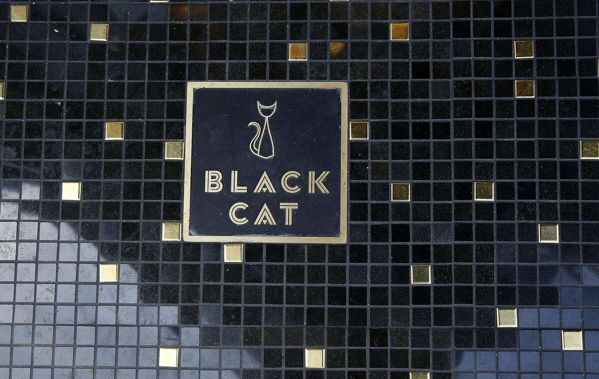View of the outside floor of the corner entrance at Black Cat Bar on Wednesday, August 3, 2016, in San Francisco, Calif.