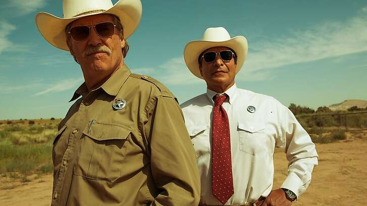 """Jeff Bridges, left, and Gil Birmingham in """"Hell or High Water"""""""