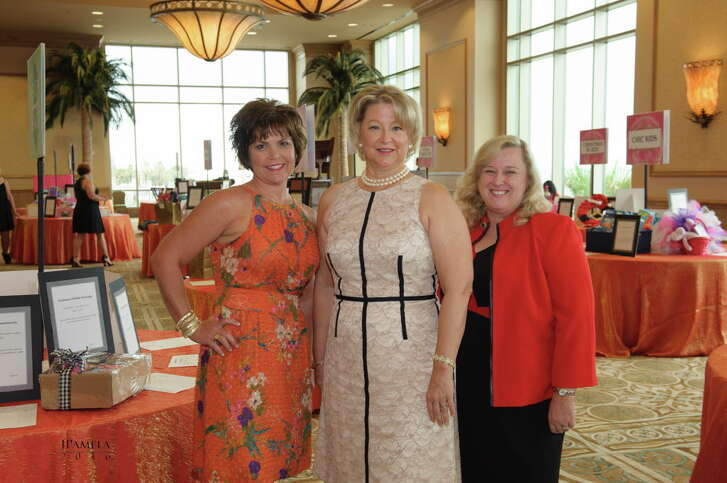 Betsy Salbilla, Diane Overman, and Kim Barker at the San Luis Convention Center for the 51st Lunar Rendezvous Festival.