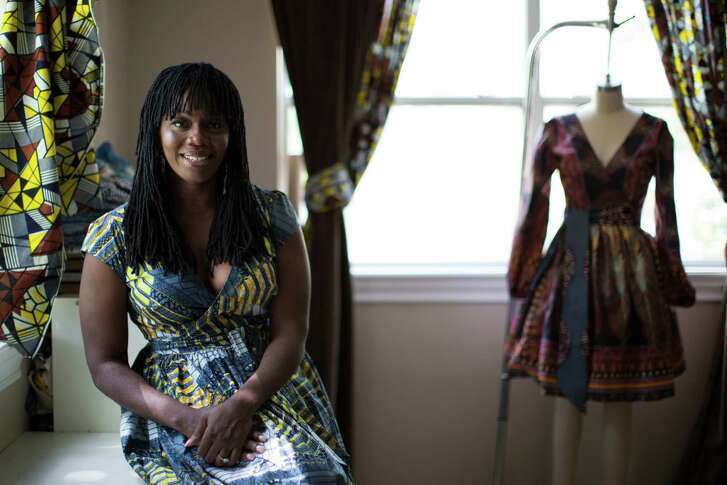 Entrepreneur Onyii Brown creates dresses using African prints. After her husband lost his job, Brown turned to fashion design, launching her first collection in 2014.