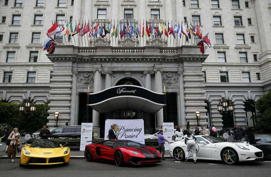all-female ferrari rally revs up in sf, raises cash and curiosity