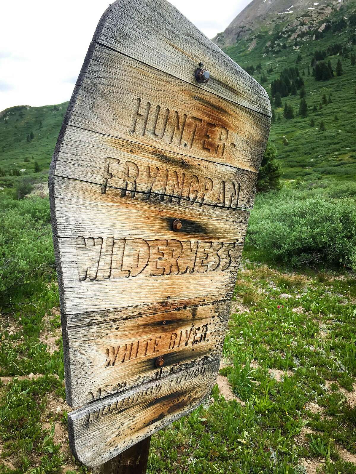 The Hunter-Fryingpan Wilderness rises to the Continental Divide, sharing its eastern border and the divide with Mount Massive Wilderness.