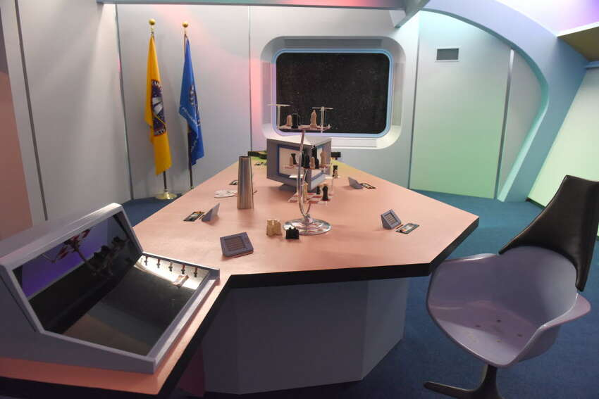 To scale replica of the briefing room at the Star Trek set on Thursday Aug. 4, 2016 in Ticonderoga, N.Y. (Michael P. Farrell/Times Union)