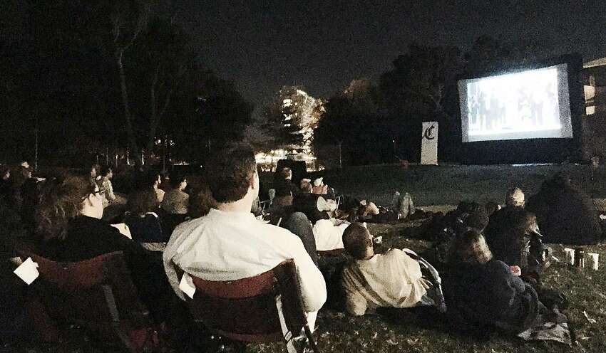 A scene from the first Chronicle movie night at Children's Fairyland in 2015.
