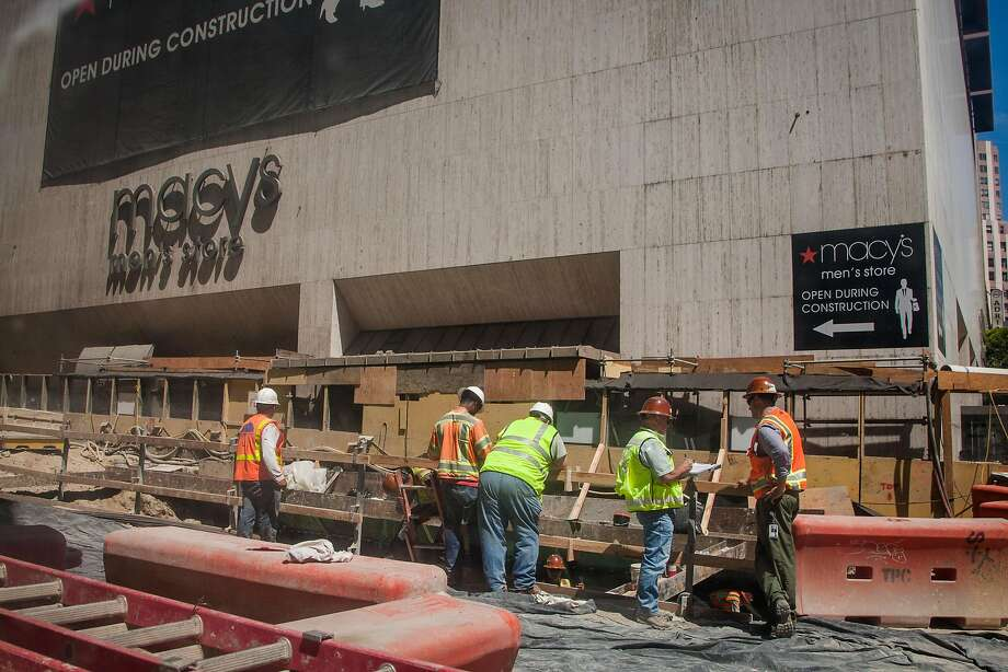 Central Subway project construction on Stockton Street in August 2015. Photo: Santiago Mejia, Special To The Chronicle