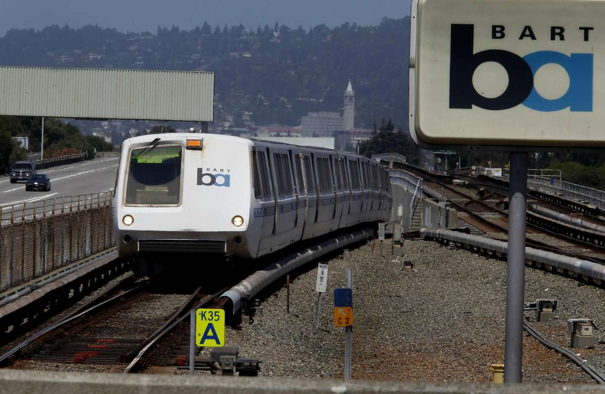 A San Francisco bound train approached the MacArthur BART station Tuesday August 9, 2011. BART service, which was disrupted for several hours Monday night because computers in the Oakland operations center malfunctioned, could have been disastrous for Giants fans trying to return home.