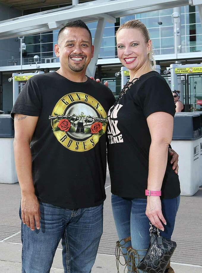 People pose for a photo before the Guns N' Roses concert at NRG Stadium, Friday, Aug. 5, 2016, in Houston. Photo: Jon Shapley, Houston Chronicle / © 2015  Houston Chronicle