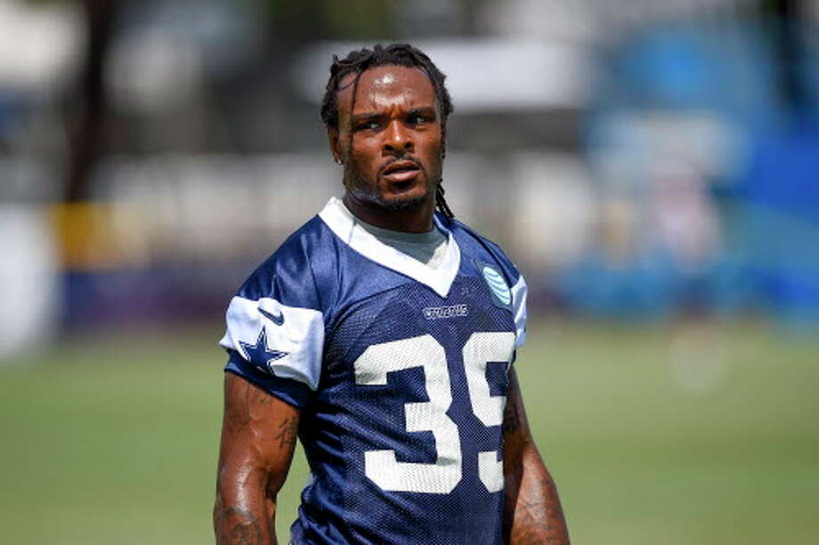 Dallas Cowboys cornerback Brandon Carr lines up during Dallas Cowboys' NFL football training camp, Monday, Aug. 1, 2016, in Oxnard, Calif. (AP Photo/Gus Ruelas) Photo: Gus Ruelas/Associated Press