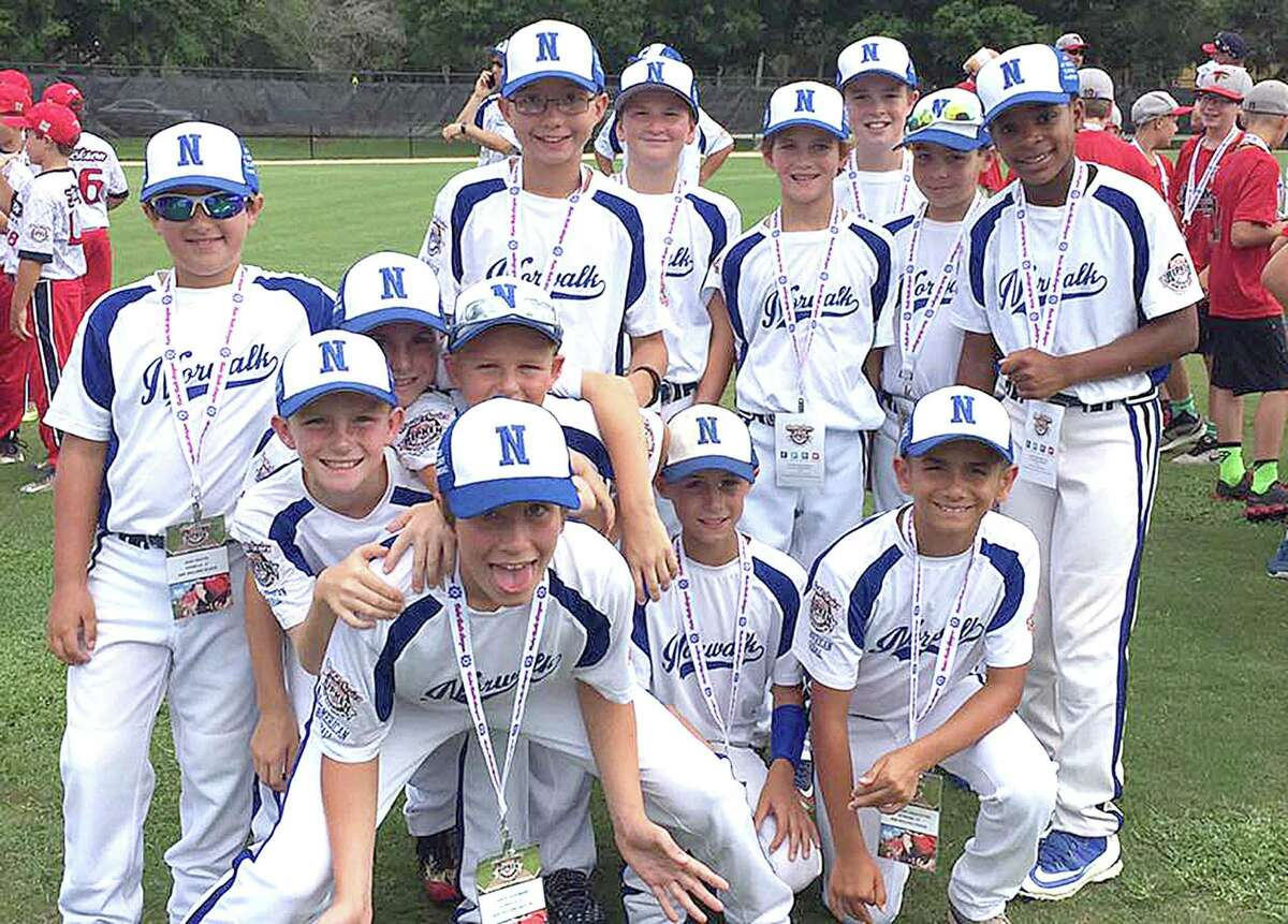 The Norwalk Cal Ripken 10-year-old All-Stars pose for a photo during Thursday's Opening Ceremonies at the 2016 Cal Ripken World Series in Palm Beach Gardens, Fla. Norwalk opens the tournament on Saturday, facing Mid-Atlantic champ Poughkeepsie, N.Y., at 5:30 p.m.