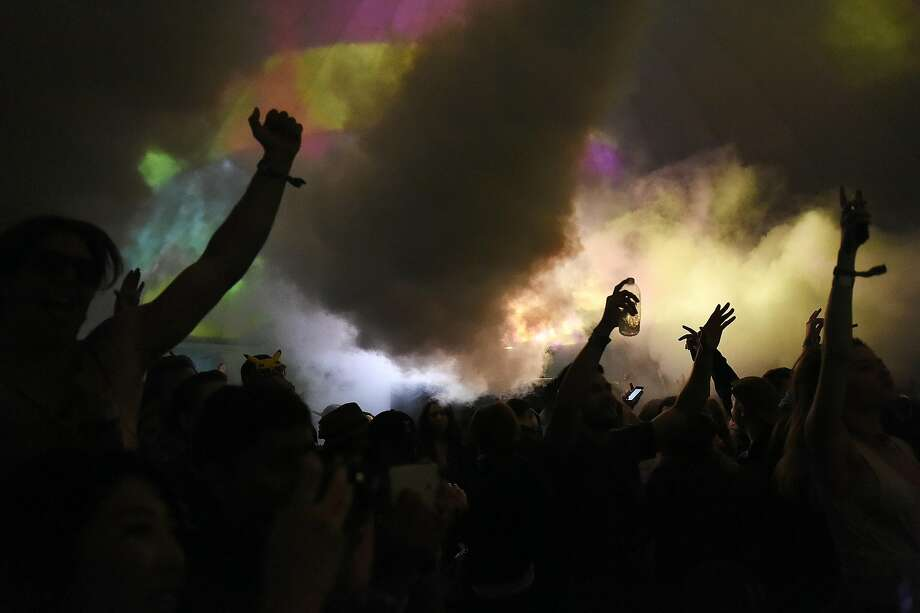 Fog machines cover the crowd during a Redlight performance during the first day of the Outside Lands music festival on Friday, August 5, 2016 in San Francisco, California. Photo: Michael Noble Jr., The Chronicle