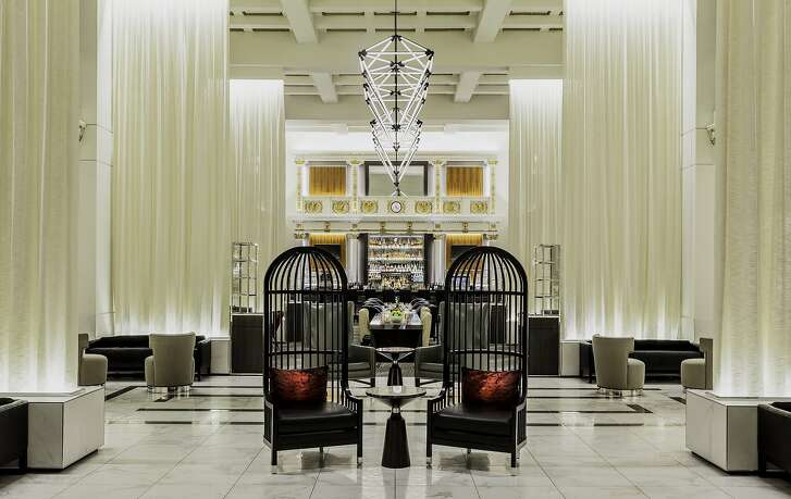 The birdcage chairs are among the most popular elements of the transformed Boston Park Plaza lobby, a formerly cavernous space that now has multiple seating areas and new dining options.