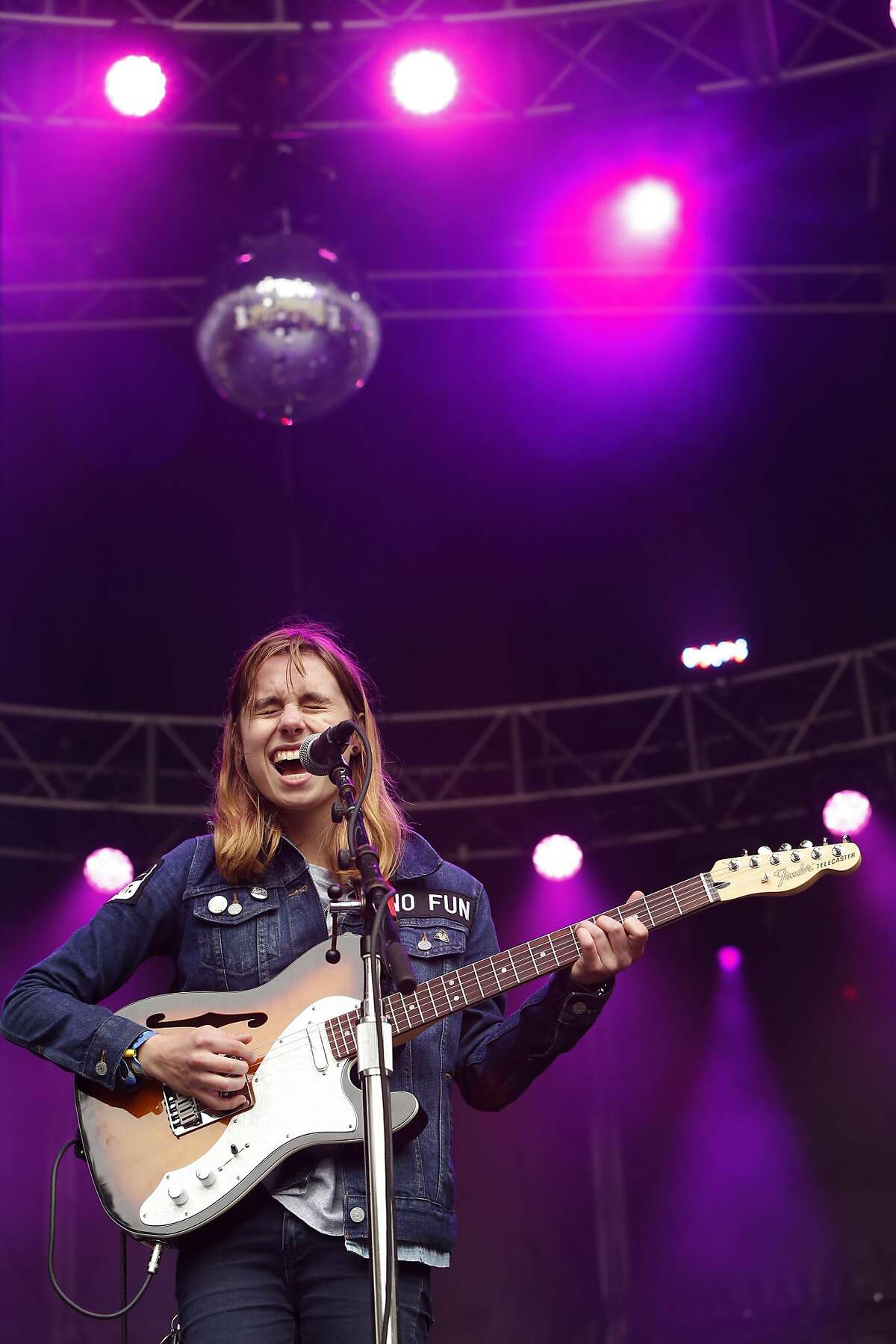 Julien Baker performs on the Sutro stage during day two of the Outside Lands Music Festival in Golden Gate Park in San Francisco, California, on Sat. Aug. 6, 2016.