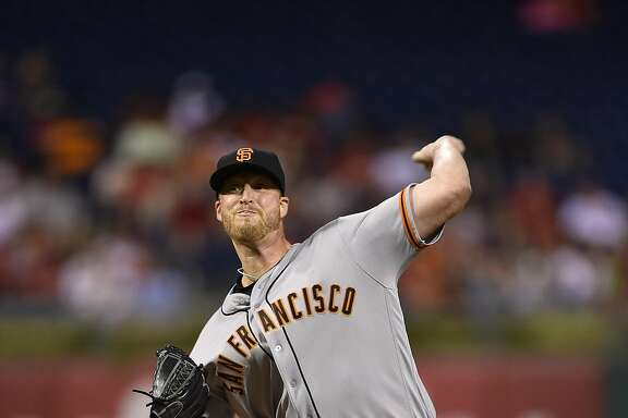San Francisco Giants' Will Smith in action during a baseball game against the Philadelphia Phillies, Wednesday, Aug. 3, 2016, in Philadelphia. (AP Photo/Derik Hamilton)