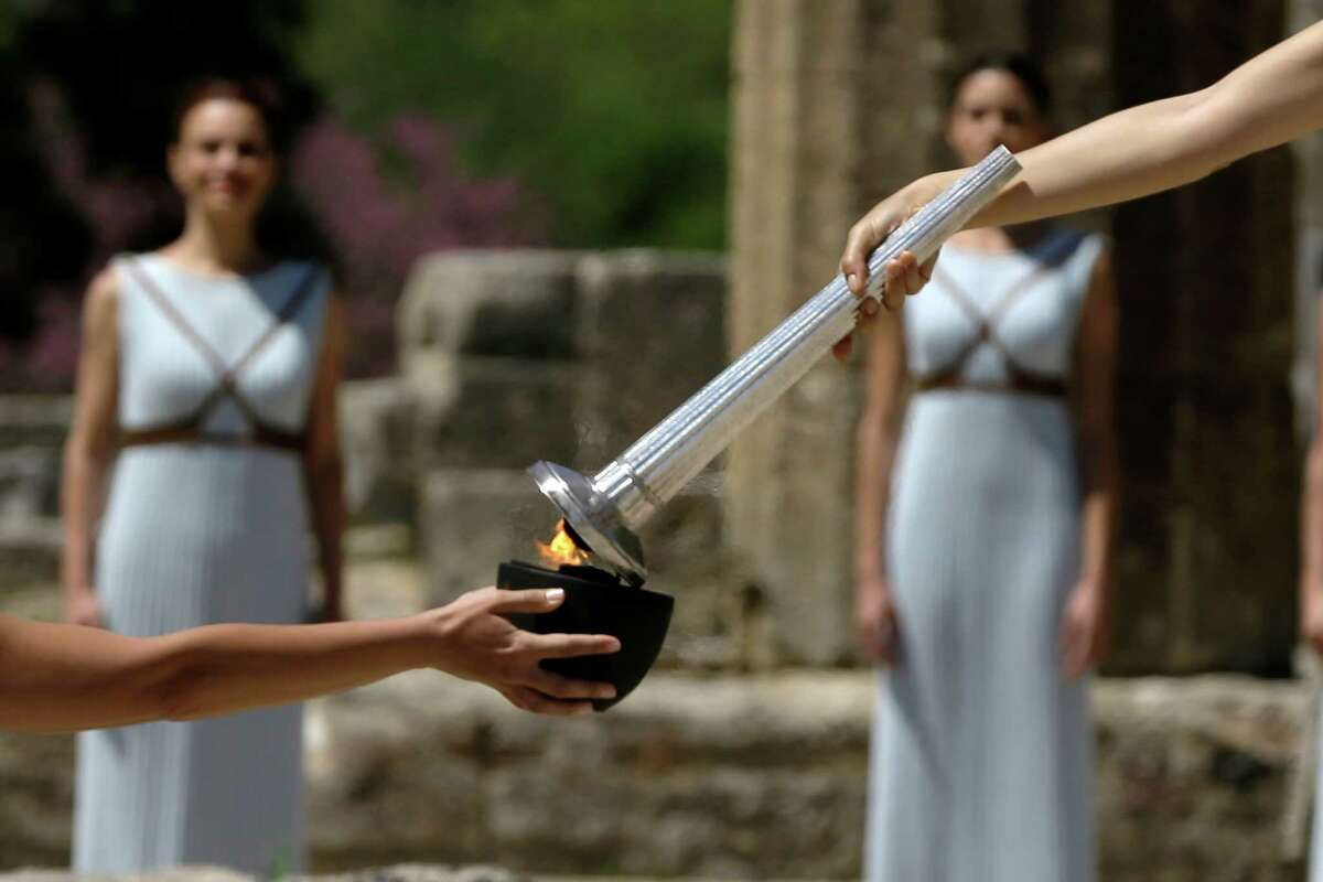 The Olympic Flame makes a stop in Greece in April on its way to the Brazilian city of Rio de Janeiro.